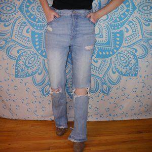 Express Super High Rise 12 Ultra Distressed Jeans